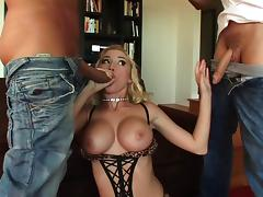 Madison Scott enjoys taking dick in her pussy and ass in MMF DP porn tube porn video