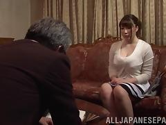 Chubby mature Japanese cowgirl enjoys getting drilled in a wild mmf threesome tube porn video