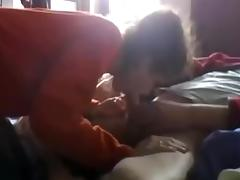Sucking Jeremy's throbbing member tube porn video