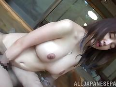 Chubby with big tits giving huge dick blowjob in pov pool shoot tube porn video
