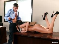 Porn star with big tits experiences steamy Hardcore office sex tube porn video