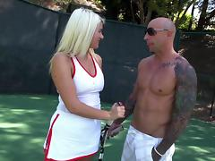 A tennis coach giver her a lesson then gives her the dick tube porn video