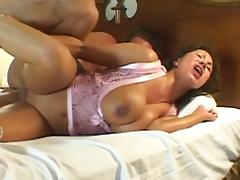 Ava Devine's giant tits bounce as he mounts his cock tube porn video