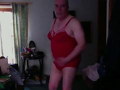 Red Swimsuit tube porn video