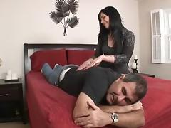 Andy San Dimas Makes Her Cuckold Lick Up Spunk tube porn video