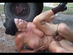 Dirty granny takes it in her old hairy twat tube porn video
