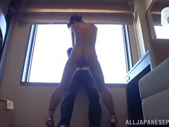 Marie Kimura hot Asian milf shows off in high heels tube porn video