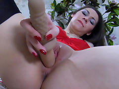 LacyNylons Video: Crystal tube porn video