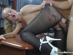 Anal-Pantyhose Video: Barbara and Nicholas tube porn video
