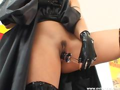 Slutty cowgirl in a hardcore pov blowjob and sex toy insertions tube porn video