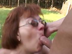 Young farm boy fucking an aged granny outdoors tube porn video
