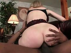 Slut gets ass toyed and drilled by black cock tube porn video