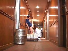 Kelly the co-ed sucks and fucks beer delivery dude tube porn video