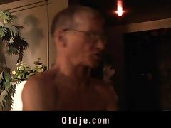 Shameless young girl fucking married old man tube porn video