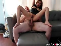 Smoking asian rides dick tube porn video