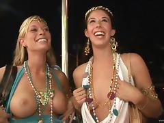 Randy chicks at mardi gras party flashing ass and tits tube porn video