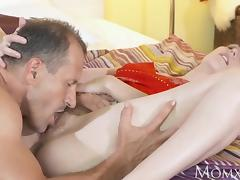 MOM After 69 stud cums inside hairy pussy tube porn video