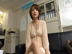 Hardcore mmf threesome action with flexible Japanese cutie tube porn video