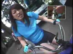 Riding Dildo Bikes In Public tube porn video