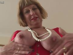 Horny British chubby granny getting very dirty tube porn video