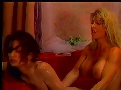 Lovers cat fight in the tub tube porn video