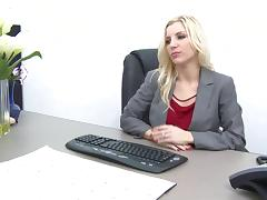 Ashley Fires is a very naughty boss in the mood to fuck an employee tube porn video