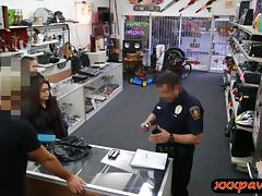 Two girls try to steal at the pawnshop and get pounded tube porn video