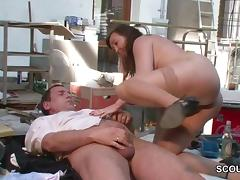 German Mother in Stockings seduce to Fuck tube porn video