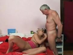 Nasty old man screws young blonde tube porn video