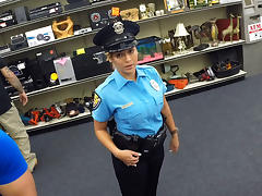 Beautiful and big tits police officer gets fucked in Shawns office tube porn video