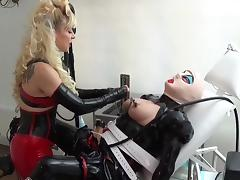rubber maids clit  used with milking machine tube porn video