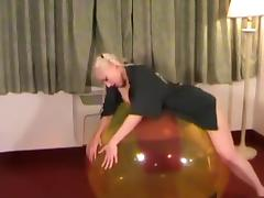 Galas Balloons - Gala get fucked on a 48 Beachball tube porn video