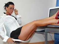 Office skank Lucky gets impaled on colleague dick tube porn video