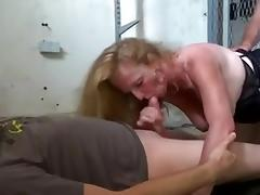 saggy tits mature threesome and DP tube porn video