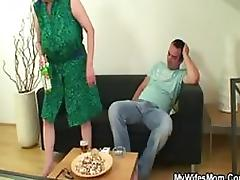 Smutty Mature Slut Gets Fucked and Covered In Cum By Her Son In Law tube porn video