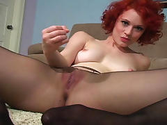 Is she a real redhead? tube porn video
