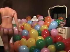 Sarahs Balloon Burst tube porn video