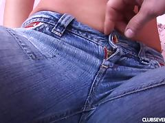 Blue eyed girl with perky boobs gets laid in her tight cunt tube porn video