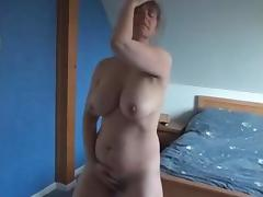 Hairy french MILF rubs her pussy to orgasm tube porn video
