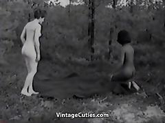 Naked Nudist Girls Messing Around (1960s Vintage) tube porn video