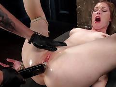 Ella Nova goes wild in harsh BDSM porn show tube porn video