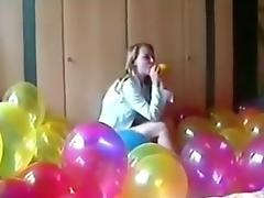 SEXY GIRL BALLOON POPPING part 1 tube porn video