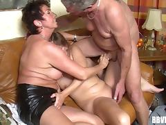 Experienced grannies' fantasies come true with a threesome tube porn video