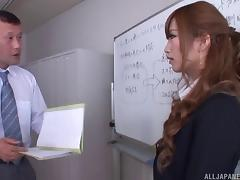 At work with a hot Japanese secretary that craves his dick tube porn video