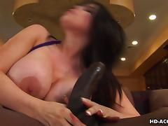sexy israeli brunette milf sucks a black cock tube porn video