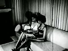 Black girls in 1960s spanking-bondage S&M fetish stag film tube porn video