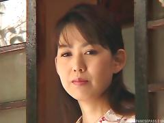 Traditional mature Japanese woman is desperate to give a blowjob tube porn video