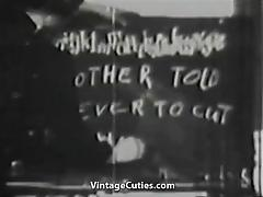 School Girls get a Hardcore Group Sex Lesson (1950s Vintage) tube porn video