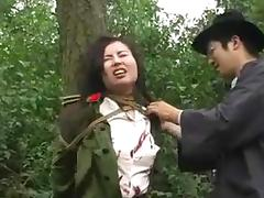 Chinese army girl tied to tree 1 tube porn video