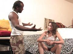 Three black cocks dominate and destroy this white gangbang slut tube porn video